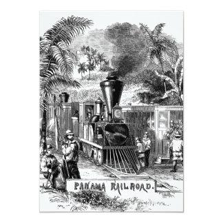 Vintage 1800s Panama Canal Railroad Train Template