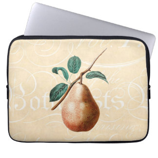 Vintage 1800s Pear Fruit Branch w Leaves - Pears Laptop Computer Sleeves