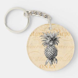 Vintage 1800s Pineapple Illustration Botany Keychain