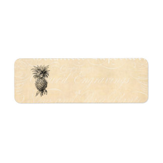 Vintage 1800s Pineapple Illustration Pineapples Return Address Label