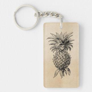 Vintage 1800s Pineapple Illustration Pineapples Single-Sided Rectangular Acrylic Keychain