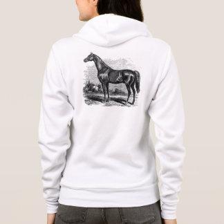 Vintage 1800s Race Horse Retro Thoroughbred Horses Hoodie