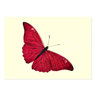 Vintage 1800s Red Butterfly Illustration Template Business Card Template