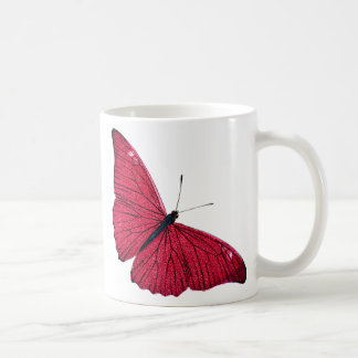 Vintage 1800s Red Butterfly Illustration Template Classic White Coffee Mug