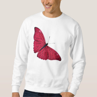 Vintage 1800s Red Butterfly Illustration Template Sweatshirt