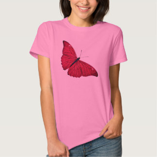 Vintage 1800s Red Butterfly Illustration Template T-Shirt
