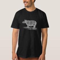 Vintage 1800s Rhinoceros Illustration - Rhino T-Shirt