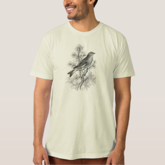 Vintage 1800s Rose Linnet Song Bird Finch Birds T-Shirt