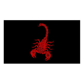 Vintage 1800s Scorpion Illustration Red Scorpions Business Cards