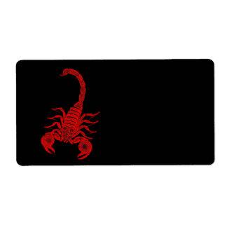 Vintage 1800s Scorpion Illustration Red Scorpions Label
