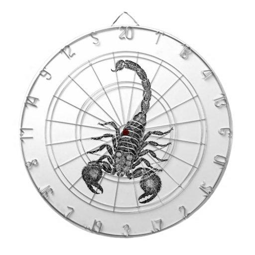 Vintage 1800s Scorpion Illustration - Scorpions Dartboard With Darts