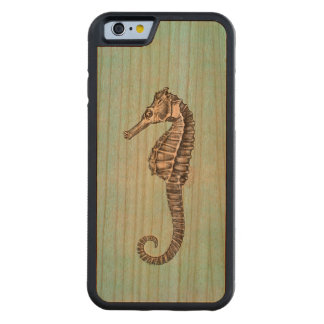 Vintage 1800s Sea Horse Ocean Seahorse Template Carved® Cherry iPhone 6 Bumper Case