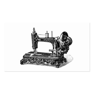 Vintage 1800s Sewing Machine Illustration Business Card Templates