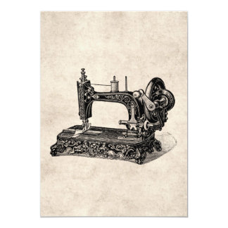 Vintage 1800s Sewing Machine Illustration Card