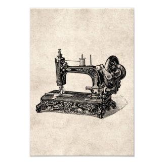 Vintage 1800s Sewing Machine Illustration 3.5x5 Paper Invitation Card
