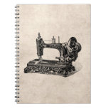 Vintage 1800s Sewing Machine Illustration Note Book