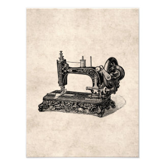 Vintage 1800s Sewing Machine Illustration Photograph