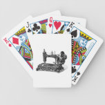 Vintage 1800s Sewing Machine Illustration Bicycle Playing Cards