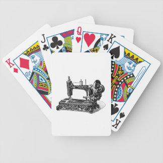 Vintage 1800s Sewing Machine Illustration Bicycle Poker Cards