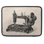 Vintage 1800s Sewing Machine Illustration Sleeve For MacBook Pro