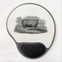 Vintage 1800s Sheep Ewe Illustration Retro Wool Gel Mouse Pad