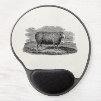 Vintage 1800s Sheep Ewe Illustration Retro Wool Gel Mouse Pad