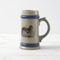 Vintage 1800s Shepherd's Dog - Sheep Collie Dogs Beer Stein
