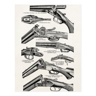 Vintage 1800s Shotgun Antique Shot Guns Old Rifles Postcard