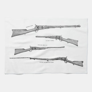 Vintage 1800s Shotgun Antique Shot Guns Old Rifles Towel