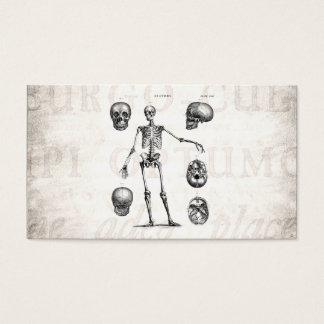 Vintage 1800s Skeleton Antique Anatomy Skeletons Business Card