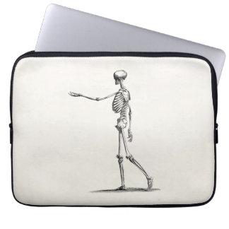 Vintage 1800s Skeleton Antique Anatomy Skeletons Computer Sleeve