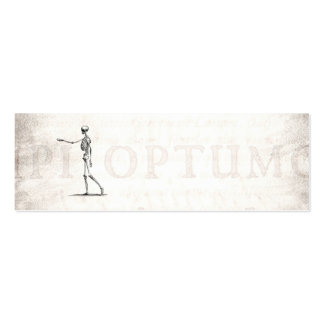 Vintage 1800s Skeleton Antique Anatomy Skeletons Mini Business Card