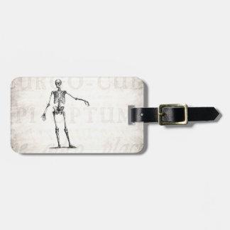 Vintage 1800s Skeleton Retro Skeletons Anatomy Bag Tag