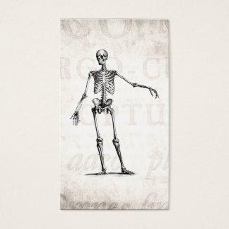 Vintage 1800s Skeleton Retro Skeletons Anatomy Business Card