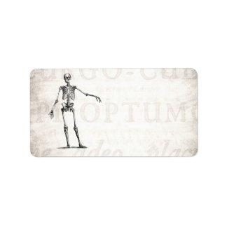 Vintage 1800s Skeleton Retro Skeletons Anatomy Custom Address Label