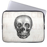 Vintage 1800s Skull Retro Anatomical Old Drawing Computer Sleeve
