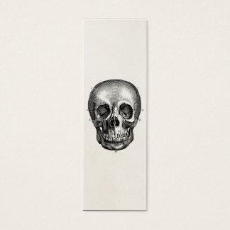 Vintage 1800s Skull Retro Skulls Skeleton Mini Business Card