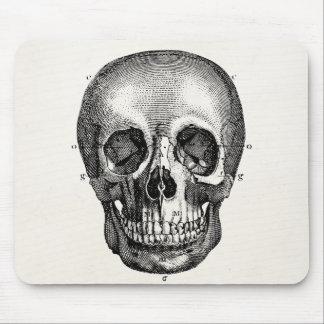 Vintage 1800s Skull Retro Skulls Skeleton Mouse Pad