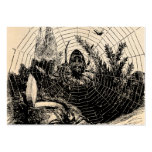 Vintage 1800s Spider Web Illustration - Spiders Business Card Template