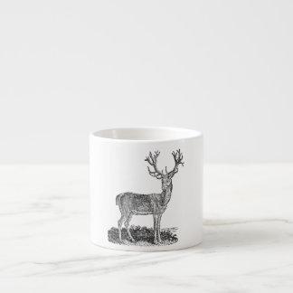 Vintage 1800s Stag Deer Antlers Retro Template Espresso Cup