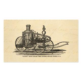 Vintage 1800s Steam Fire Engine Antique Fire Truck Business Card