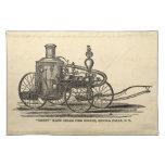 Vintage 1800s Steam Fire Engine Antique Fire Truck Placemats