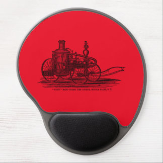 Vintage 1800s Steam Fire Engine Red Fire Truck Gel Mouse Pad
