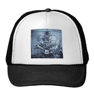 Vintage 1800s Stereoview Christmas Tree Trucker Hat