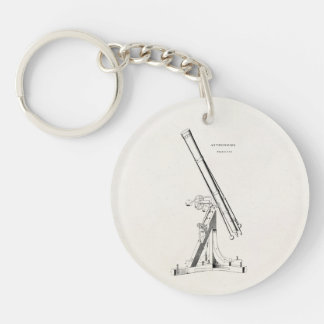 Vintage 1800s Telescope Antique Astronomy Template Keychain