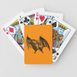 Vintage 1800s Vampire Bat Illustration - Halloween Bicycle Playing Cards