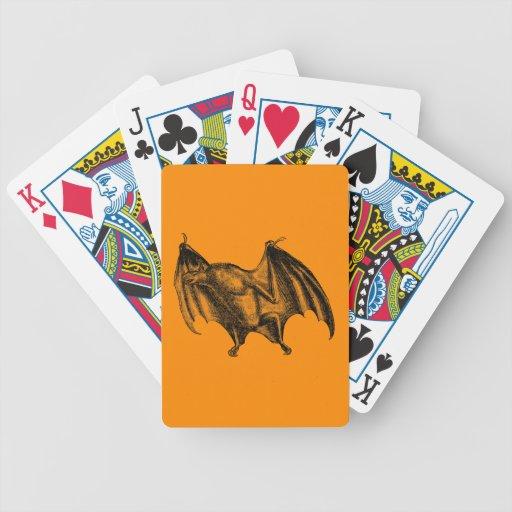 Vintage 1800s Vampire Bat Illustration - Halloween Bicycle Poker Cards