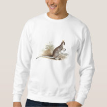 Vintage 1800s Wallaby Kangaroo Old Wallabies Sweatshirt
