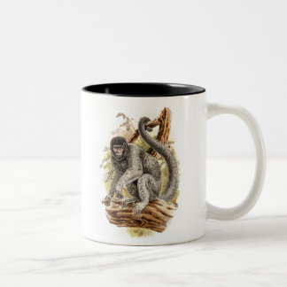 Vintage 1800s Woolly Monkey Old Wooly Monkeys Two-Tone Coffee Mug