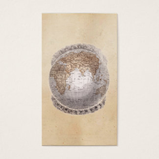 Vintage 1800s World Map Eastern Hemisphere Globe Business Card